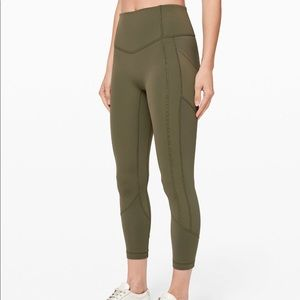 """Lululemon All The Right Places Crop II 23"""" Sage"""